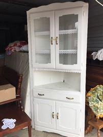 White Corner Cabinet Nice
