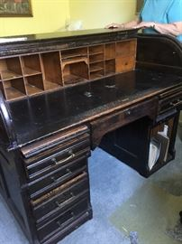 This desk from the late 1800's from Germany out of a bank really nice piece