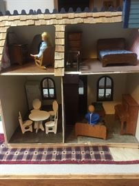 Dolls and furnitures of doll house