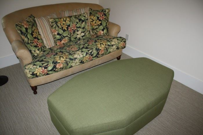 Leather loveseat--new  $350.00