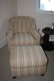 Chair and ottoman--new $300.00