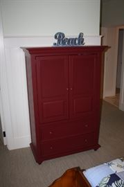 Cabinet painted red--original Stanley $300.00