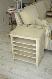 End table with sliding shelves, Lexington  $175.00