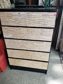Music themed chest of drawers