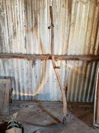 antique sickle long handle