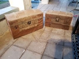 2 old trunks