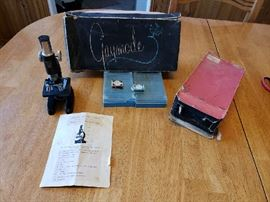 Childs microscope set from the 1960's.