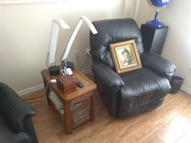 Black leather recliner chairs $125 each