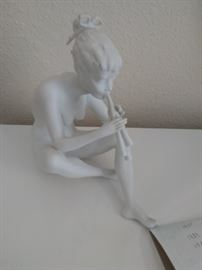 AK Keiser West Germany statuette. Naked woman playing flute. Mint condition $75.00 No box