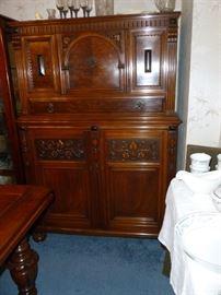 Matching Antique China Cabinet