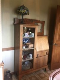 BEAUTIFUL OAK DROP FRONT SECRETARY VERY GOOD CONDITION