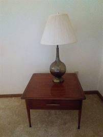 "Lane ""Acclaim"" Line Mid Century Wood Danish Modern Inlaid Wood Coffee Table & End Table (Altavisa, Virginia)Mid 1960's All Original - Excellent Condition,"