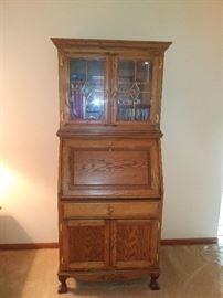 Antique Drop Down Oak Secretary/Desk