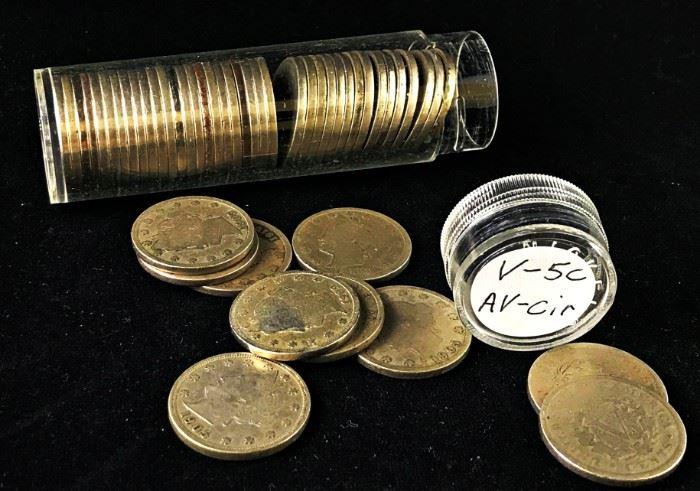 Liberty V Nickels- 40 Coin Tube