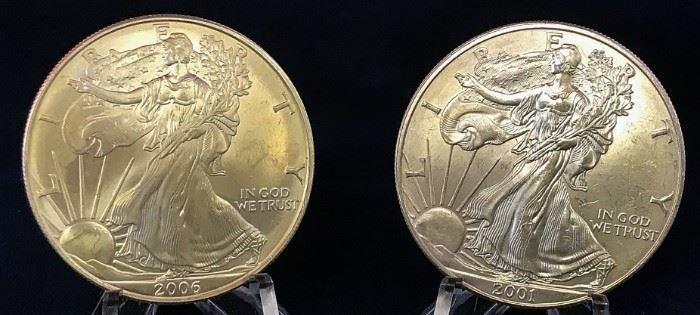 American Silver Eagles - 2001, 2006