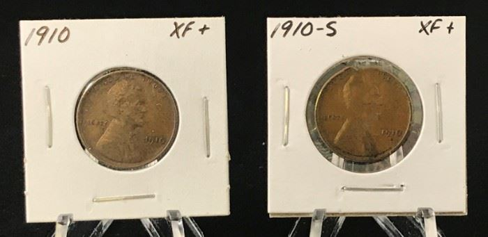 Lincoln Cents- 1910, 1910-S
