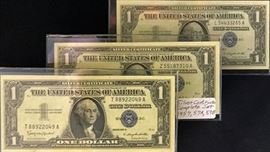 $1 Silver Certificates- Complete Set - 1957, 1957-A, 1957-B
