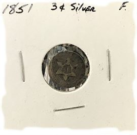 3 Cent Silver Coin- 1851