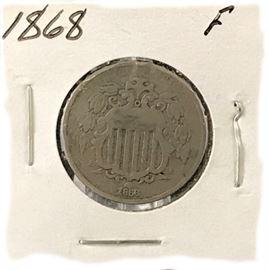 Shield Nickel- 1868