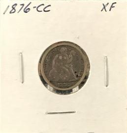 Seated Liberty Dime- 1876 Carson City