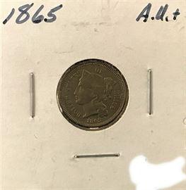 3 Cent Nickel- 1865