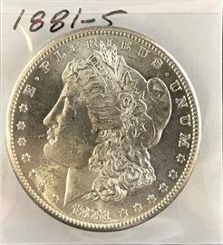 Morgan Dollar 1881-S