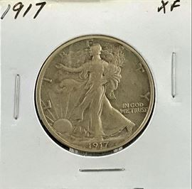 Walking Liberty Half Dollar, 1917