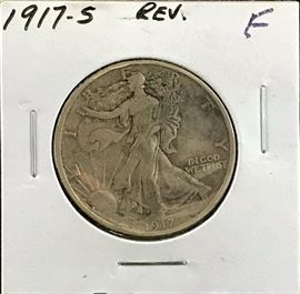 Reverse Walking Liberty Half Dollar, 1917-S