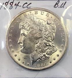 Morgan Dollar, 1884 Carson City