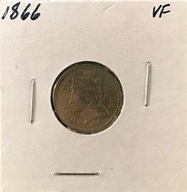 3 Cent Nickel 1866
