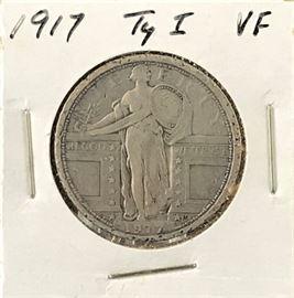 Standing Liberty Quarter Type 1, 1917