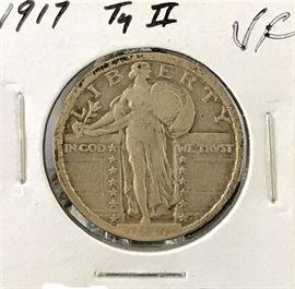 Standing Liberty Quarter Type 2, 1917