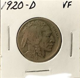 Buffalo Nickel, 1920-D
