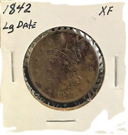 Large Cent, Large Date, 1842