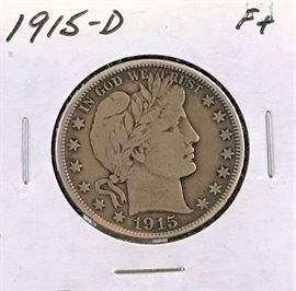 Barber Half, 1915-D