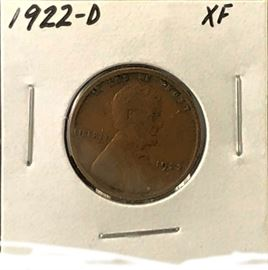 Lincoln Cent, 1922-D