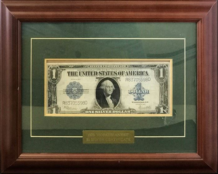 1923 Large Silver Certificate Display