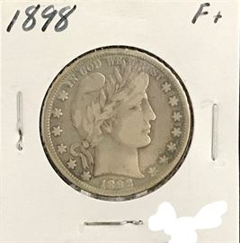 Barber Half Dollar, 1898