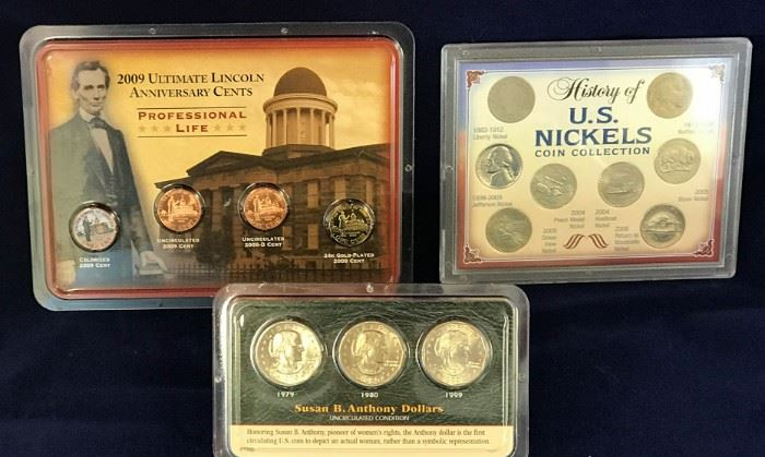 History of Nickels, Susan B. Set, 2009 Lincoln Cent Set