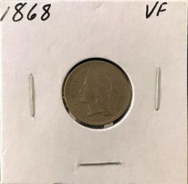 3 Cent Nickel, 1868
