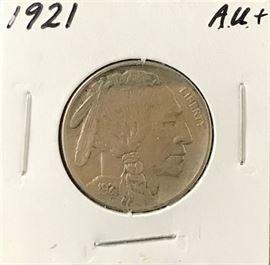 Buffalo Nickel, 1921