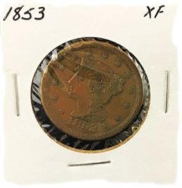 Large Cent, 1853
