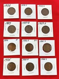 Lincoln Cents, 1935-1938