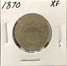 Shield Nickel, 1870