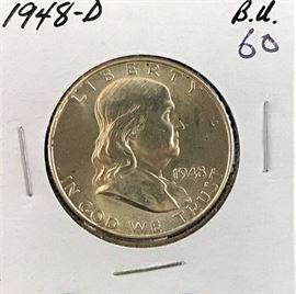 Franklin Half Dollar, 1948-D