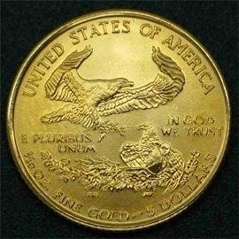 GOLD Eagle, 1/10th ounce, 1999