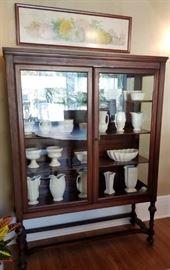 Mahogany Vitrine Display Cabinet