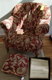 Set of 4 Club Chairs Lillian August