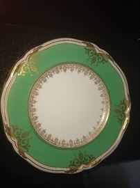 Minton Hand Painted Cabinet Plates,  Set of 12