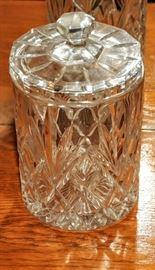 CRYSTAL LIDDED JAR